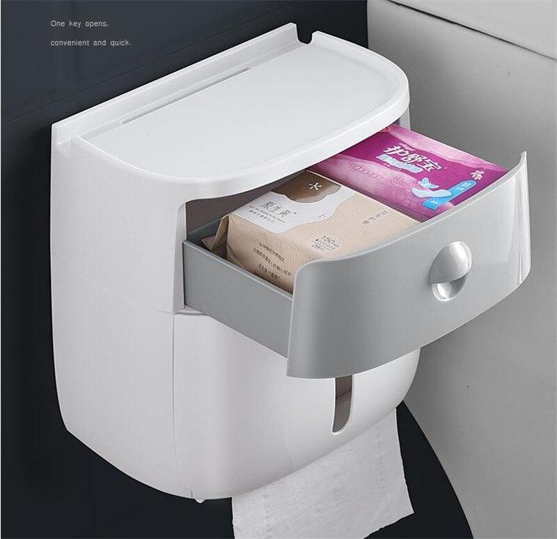 caixa de tecido plástico banho suporte de