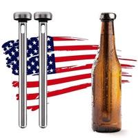 Stainless Steel Cooler Sticks Bottle Inner Beer Chiller Sticks for Rapid Chilling Bottled Drinks Physical Frozen Never Diluting