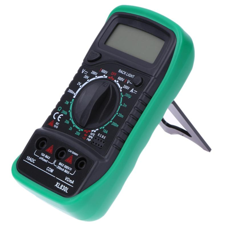HTB1Eit.XfvsK1Rjy0Fiq6zwtXXaO Professional XL830L Digital Multimeter Voltmeter Ammeter AC DC OHM Volt Tester LCD Test Current Multimeter Overload Protection