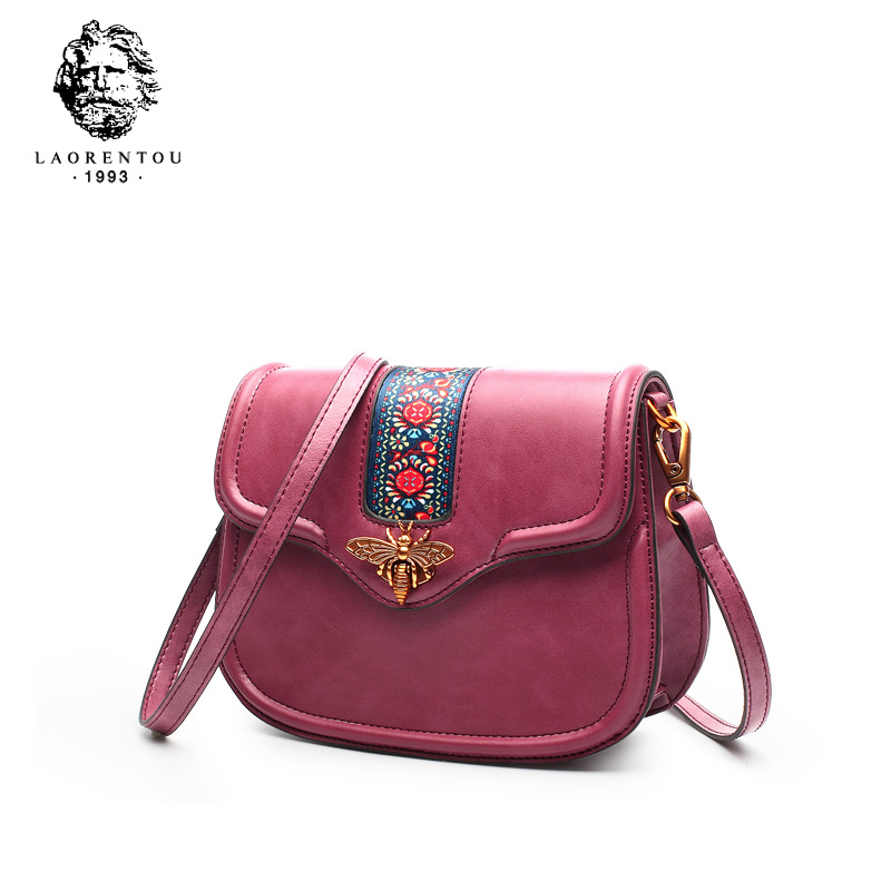 LAORENTOU Women Shoulder Bag Luxury Messenger Bag for Female Split Leather Ladies Crossbody Bag Women bags Valentine's Day gift