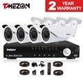 Tmezon 4ch ahd dvr 4 unids 2.0mp 1080 p cámara 2.8-12mm lente de zoom de seguridad cctv sistema de vigilancia impermeable al aire libre 1 tb 2 tb conjunto