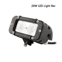 free shipping Single Row 20W 40W 60W high power 4x4 off road LED work light bar for truck ATV UTV SUV 4WD driving lamp