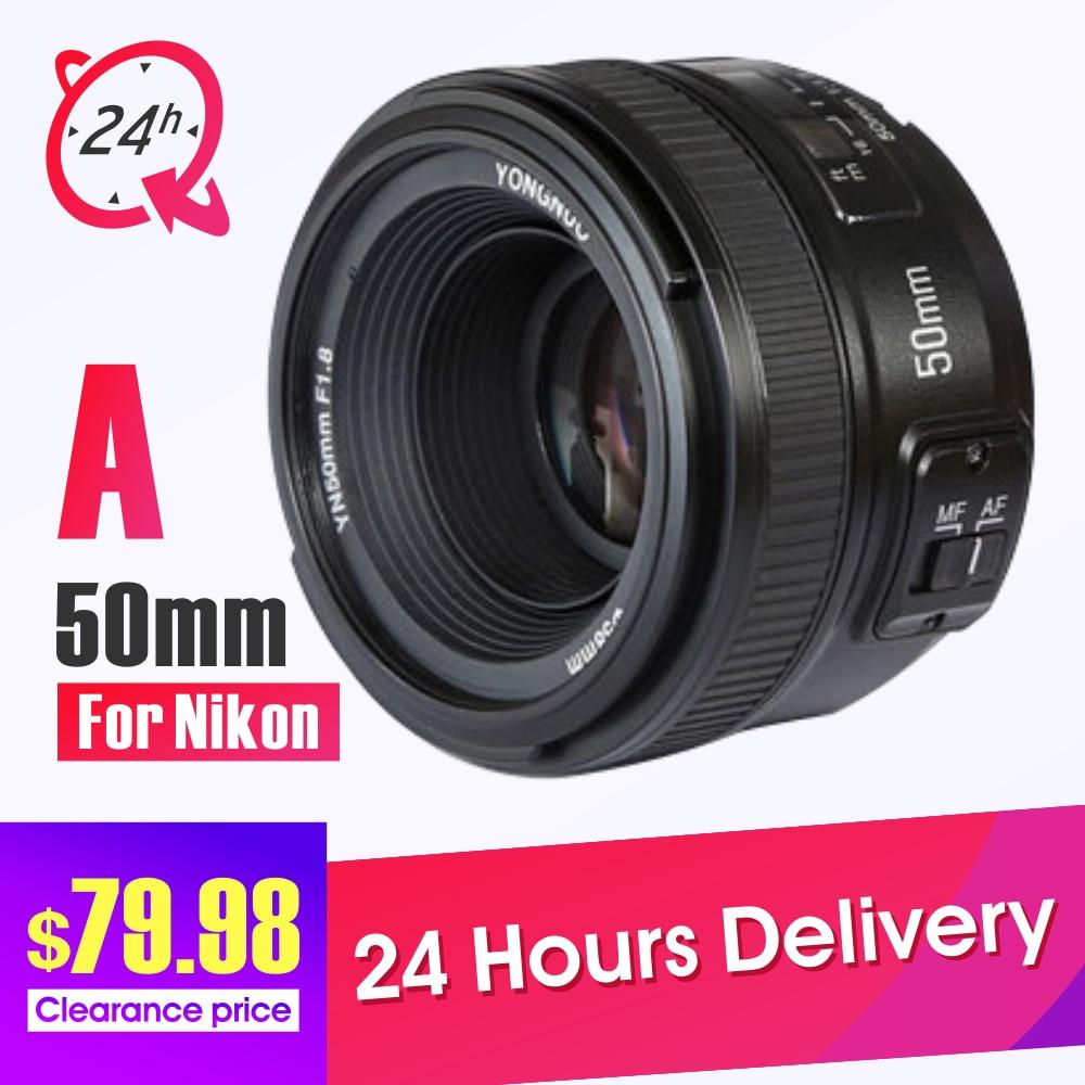 YONGNUO YN50mm Lens Fixed Focus  F1.8 Large Aperture Auto Focus Lens For Nikon DSLR D3300 D5300 D5100 D750 yongnuo yn35mm af mf fixed focus camera lens f2n f2 0 wide angle f mount for nikon d7200d7100 d300 d5500 d500 dslr free lens bag