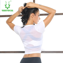 2017 summer new  t-shirts  clothing quick drying breathable mesh show thin loose  shirt workout clothes