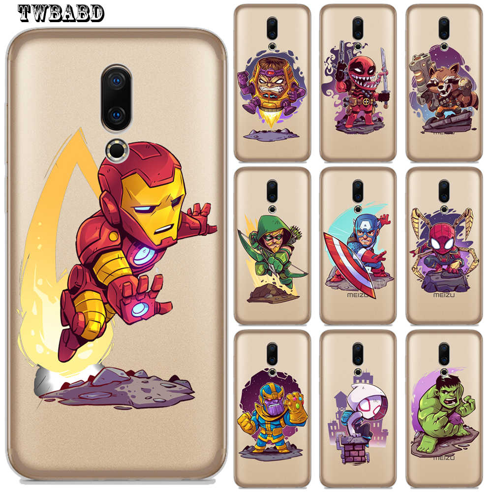 De lujo de Marvel vengadores lindo Thanos Hombre de Hierro de lujo para Meizu M6 M5 Mini M5c M5s M3S M3 M5 M6 nota M6 Pro6 U10 U20 16th Etui
