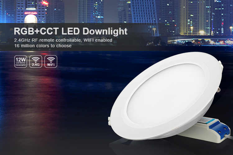 10pcs 6w 12w 2.4g Milight Wireless Dimmable Led Downlight Smart Rgbw Rgbww Dimming Led Down Lights By Ios/android Phone