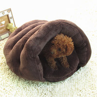 New Dog Bed For Small Dogs Princess Pet Sleeping Bag Cat Bed House Warm Soft Teddy