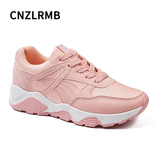 2d4d0a229 Woman Sport Sneakers White Pink Student Breathable Women Running Shoes Lace  Up Sport Outdoor Athletic Shoes Sneakers for Women