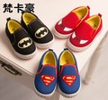 Free Shipping 2014 Children Superman Spiderman Batman Shoes 2014 New Girls Boys Christmas / Halloween Shoes Size 21-35