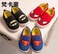 O Envio gratuito de 2014 Crianças Sapatos 2014 Meninas Novas Dos Meninos Superman Spiderman Batman Natal/Halloween Sapatos Tamanho 21-35