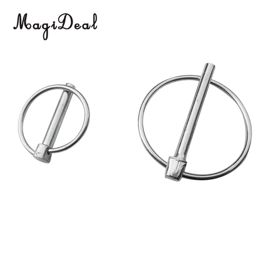 2x Durable Aluminum Kayak Canoe Marine Boat Trolley Buckle Rings Kit Accessories