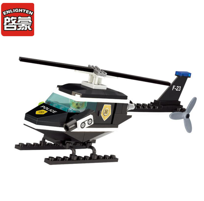 2017 Enlighten Military Series Plane Scout Helicopter Building Block sets Bricks Toys Gift For Children Compatible With Lepin 2017 enlighten city series garbage truck car building block sets bricks toys gift for children compatible with lepin