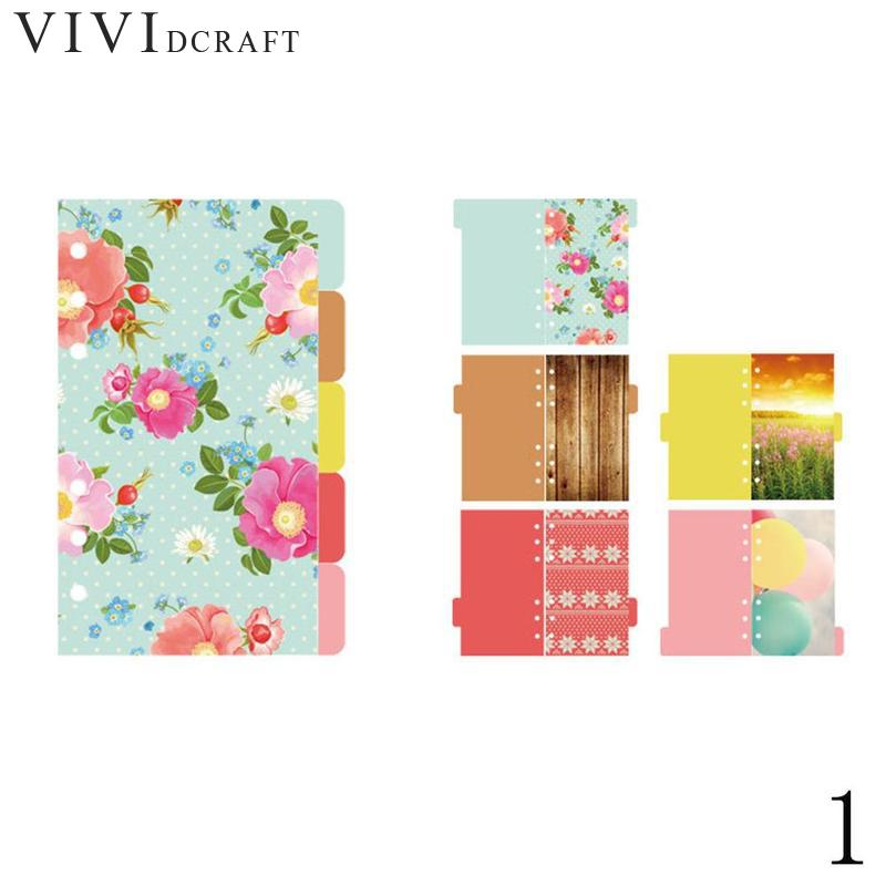5 Sheets/pack A5 A6 Loose Leaf Index Paper Category Page Sakura Separator Separa