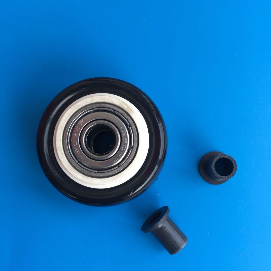 Double wheel bearing PU 1.5 inch single wheel caster wheel accessories