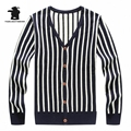 Wholesale men's V-neck Striped Cardigan Winter And Autumn Brand Fashion Casual Sweater Men Pull Homme  M~2XL DB12F6210