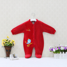 Romper Sleeper Toddler Clothes Spring One-Piece Autumn Baby-Girls Boys And Thick Button