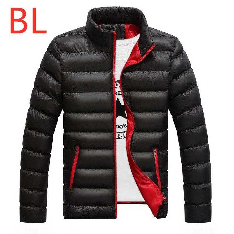 BL New Men's Winter Polyester Duck Printed Logo   Down   Jackets Male Vest Snow High Warm Outdoor Full   Coat   Man Velvet Pattern Parka