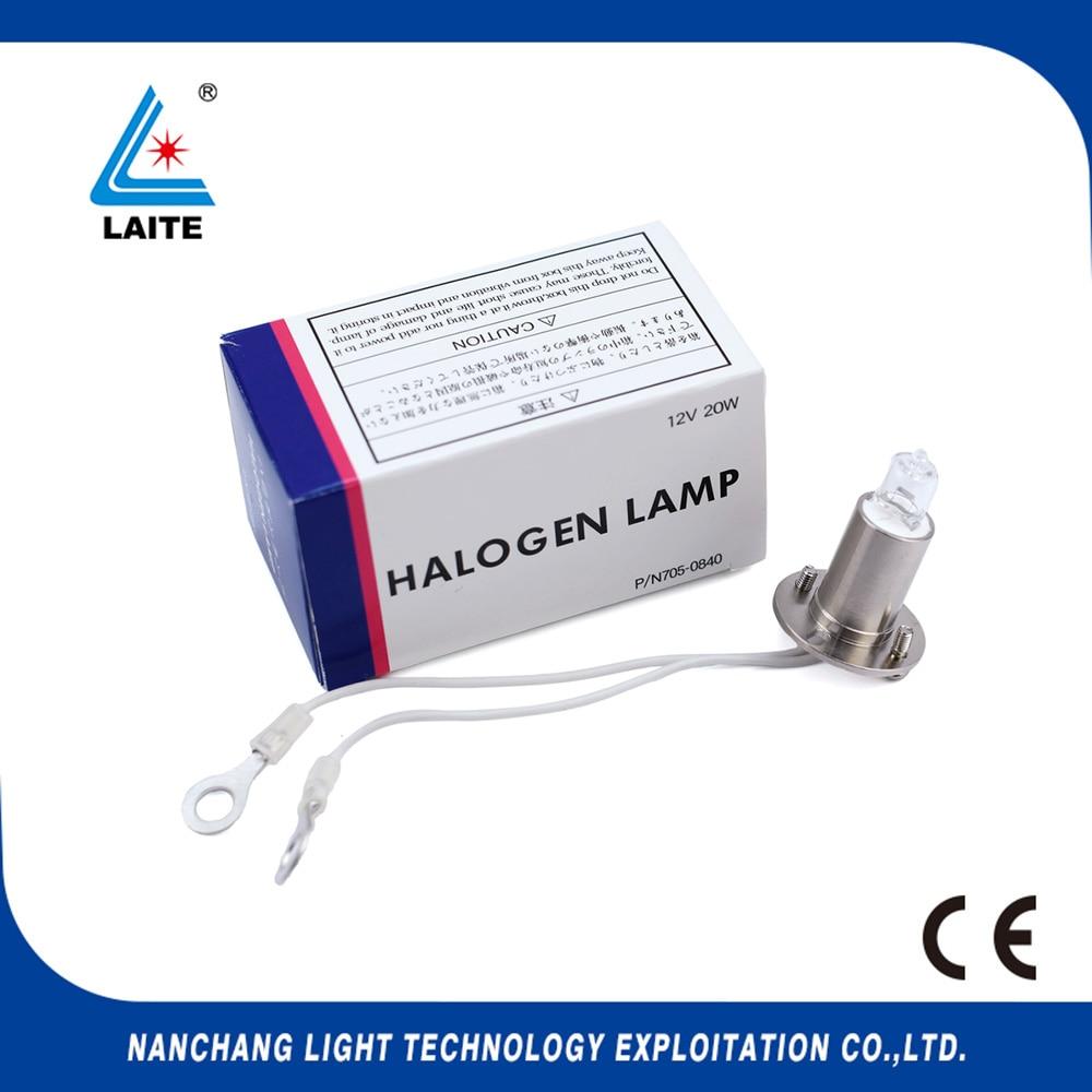 Hitachi 12V 20W halojen lamba P / N705-0840 kimya analizörü 704,717,737,767,7020,7180,7600, Roche P800 P / N 705-0840 12V20W ampul