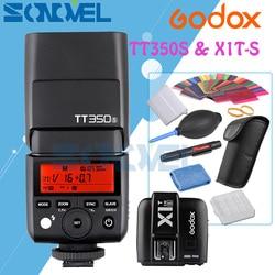 Godox Mini Speedlite TT350S Camera Flash TTL HSS GN36+X1T-S Transmitter for Sony A9 A7RII Mirrorless DSLR Camera with 6 Gift Kit