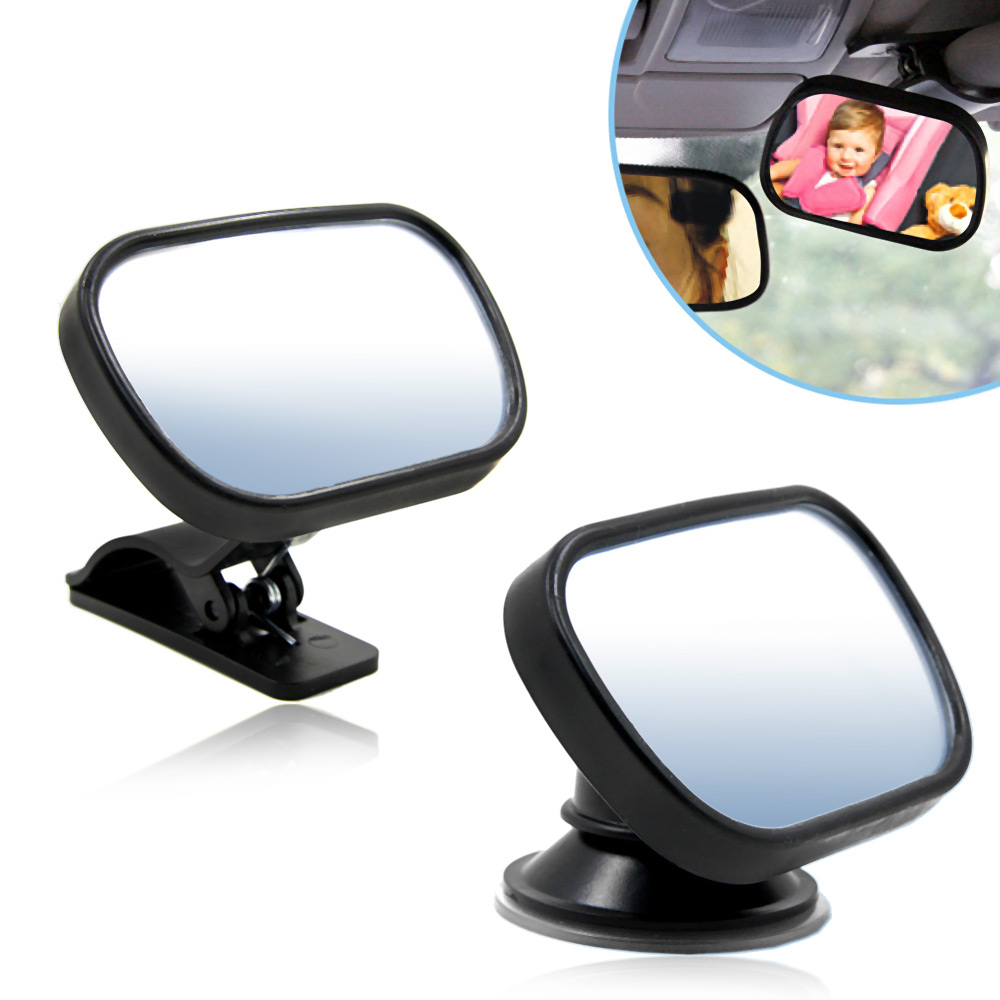 TIROLCar Baby Rear View Safety Convex Mirror Back Seat Rearview Mirror Adjustable Infant Baby Kids Monitor Interior Accessories