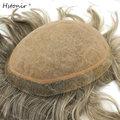Perucas Silk Top Best Toupees Ombre Grey Human Natural Hair Wig Pedacos De Cabelo Grampo Verdadeiro H100