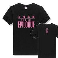 KPOP BTS GENÇ SONSUZA EPILOGUE Gömlek 2016 K-POP Sıcak Satış Klasik Siyah Beyaz Katı Pamuk Kısa Kollu T-Shirt