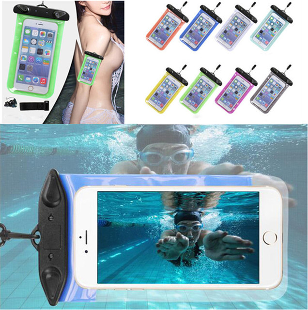 check out e8b06 2b146 Universal Waterproof Swim Diving Case Pouch Bag For Huawei Honor V8 V 8  5.7