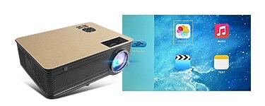 Touyinger M5 LED проектор 4000 люмен Android 6.0 Bluetooth WiFi видеопроектор ТВ домашний кинотеатр 1080Р