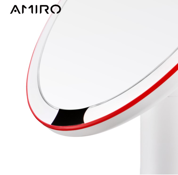 AMIRO 8 Inch LED Lighted Makeup Mirror, On/Off Smart Sensor, True Color Clarity System