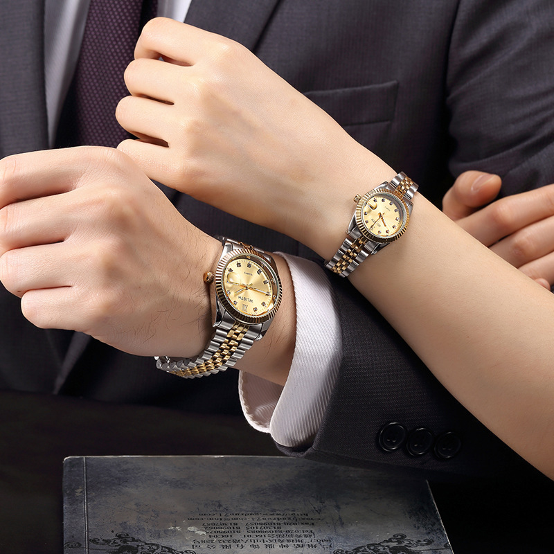 2019 Design Unique Couple Watches For Lovers Brand Luxury Quartz WristWatch Men Women Minimalist Student Clock Relogio Feminino