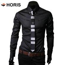 Mens Social Rhombic Plaid Dress Shirt Long Sleeve Luxury Slim Fit Tuxedo Shirts For Men Free Shipping Plus Size 4XL 5XL H297