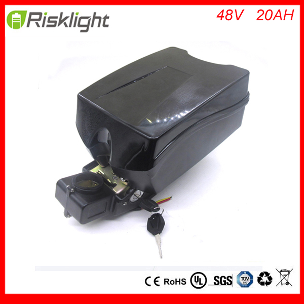 Portable 48v 1000w 20ah li ion electric bike battery 48volt 18650 battery pack with BMS for frog ebike with charger and bms 48v 34ah triangle lithium battery 48v ebike battery 48v 1000w li ion battery pack for electric bicycle for lg 18650 cell