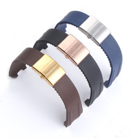 Waterproof Rubber Watchband Steel Buckle Silicone Watch Band Strap for Nardin EXECUTIVE Blue Black Brown 26*20mm Man Watch Strap
