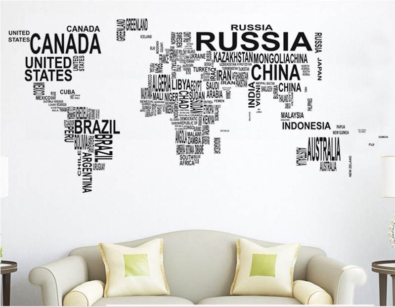 Large world map in words wall art sticker vinyl graphics decals home large world map in words wall art sticker vinyl graphics decals home room decor in blinds shades shutters from home garden on aliexpress alibaba gumiabroncs Gallery