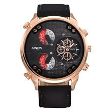 relogio masculino clock Luxury Men's Aviator White Automatic Mechanical Date Day Leather Wrist Watch free shipping gift