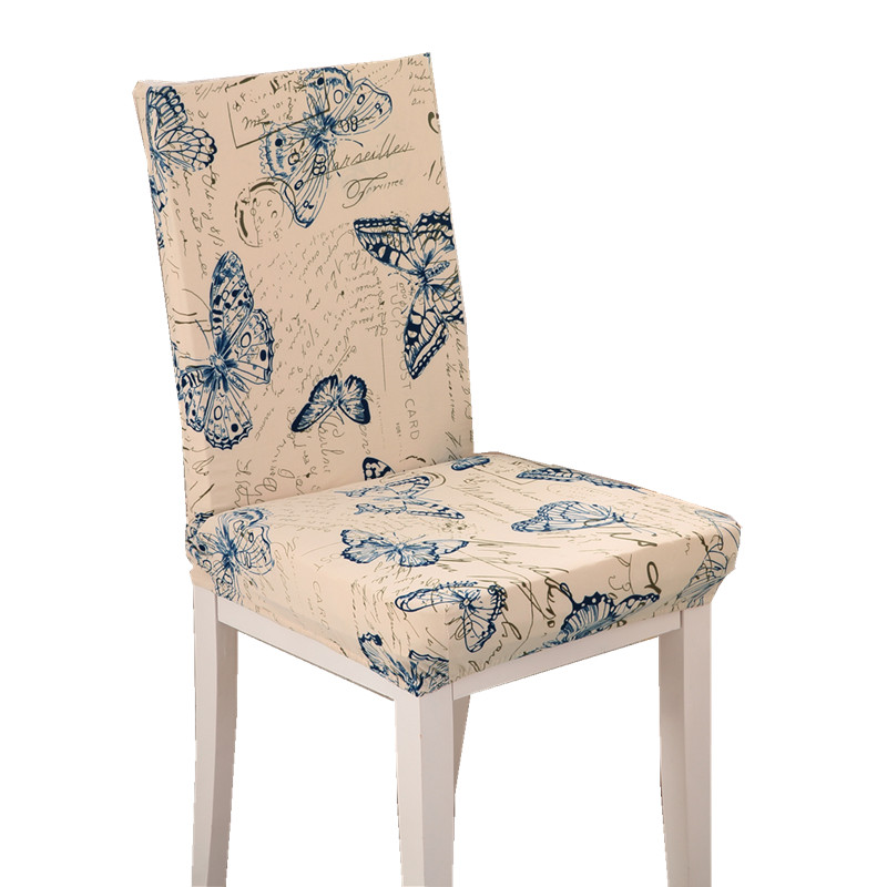 Butterfly Pattern Chair Covers Jacquard Stretch For Dining Room Decoration Short Half Machine Washable HGTXTBCR014 In Cover From Home