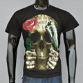 Newest Fashion Men's Cotton Short Sleeves T-shirt Casual Rose Skull Top Sale High Quality Tops Tees