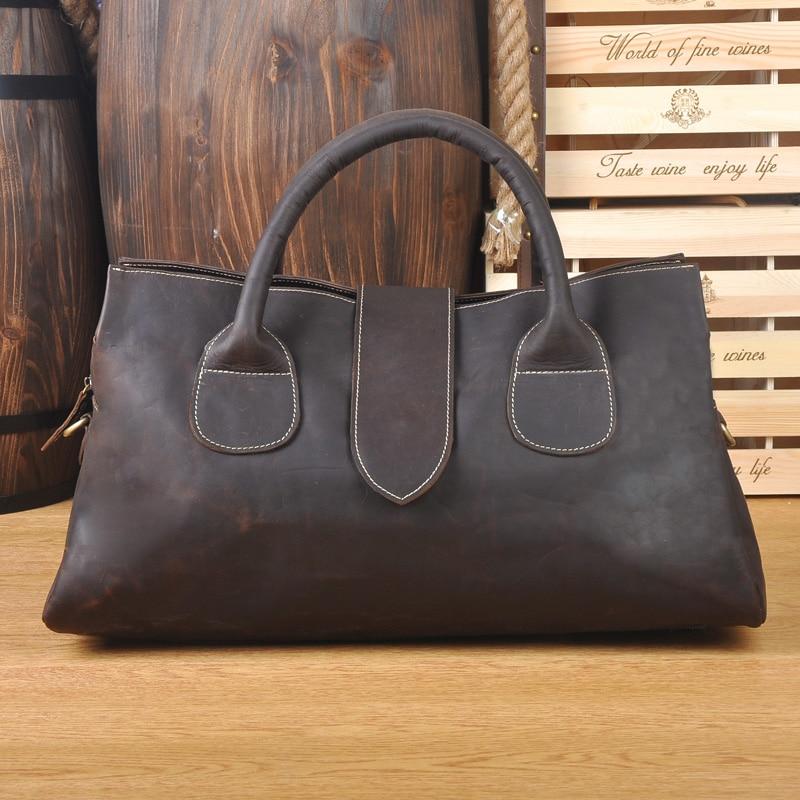 Grand sac à bandoulière femmes sacs de voyage en cuir véritable fourre-tout sacs de sport pour femmes et hommes sac à main de mode sac de week-end