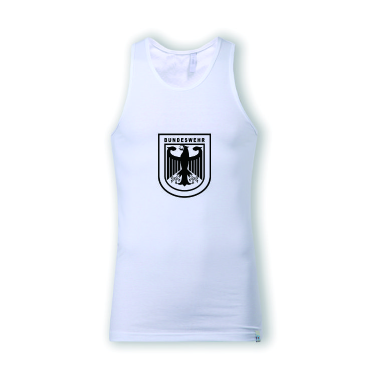 German Army Military Bundeswehr Black White Vest Tank Top