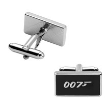 Luxury shirt Black 007 cufflink for mens Brand cuff buttons cuff links High Quality abotoaduras Jewelr