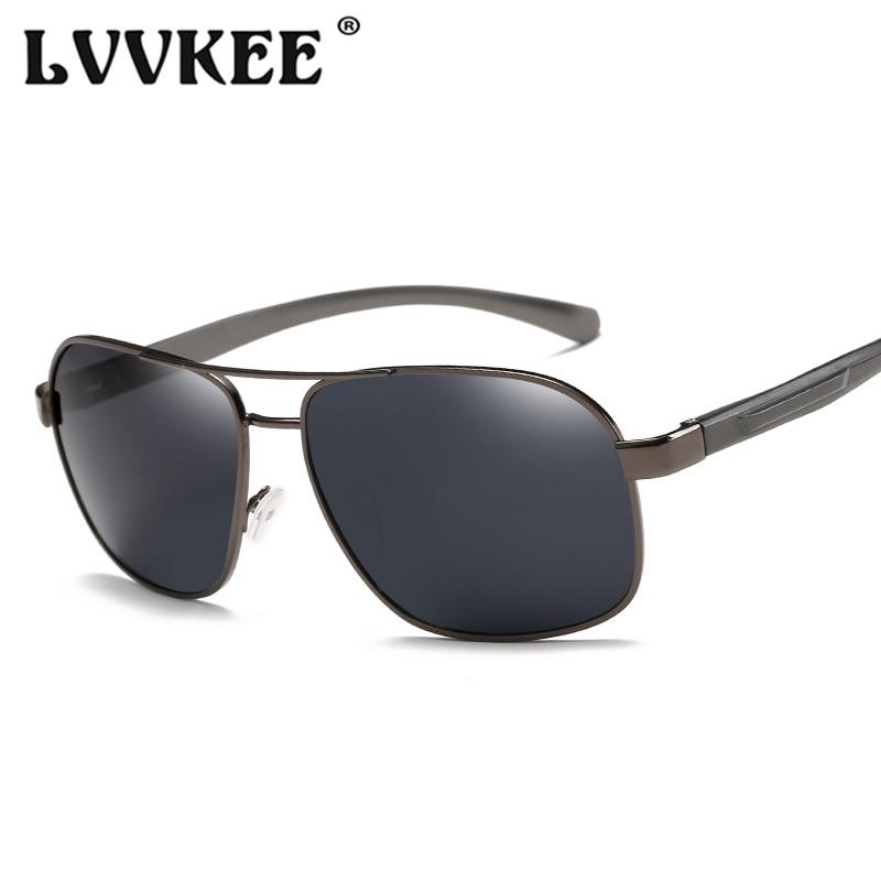 LVVKEE Retro Polarized Men's Sunglasses Aluminum Alloy Fashion Mirror Sun Glasses For Male Driving Glasses UV400 Female Eyewear