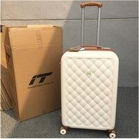 Прокатки Spinner багаж чемодан для путешествия Женская тележка случае с колесами 20 дюймов интернат вести дорожные сумки Магистральные ретро ч