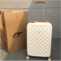 Rolling Spinner Luggage travel suitcase Women Trolley case with Wheels 20inch boarding Carry On Travel Bags Trunk Retro suitcase
