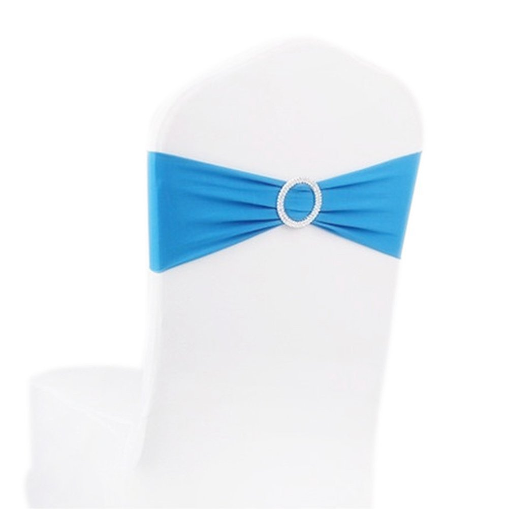 Wondrous 10 Pieces Stretch Bulk Chairs Covers Bands With Ring Buckle Wholesale Wedding Decoration White Black Red Pink Purple Blue V20 In Chair Cover From Home Onthecornerstone Fun Painted Chair Ideas Images Onthecornerstoneorg