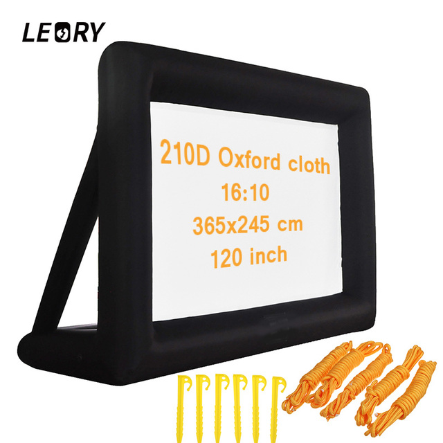 LEORY 120 inch 16:9 Portable Inflatable Projection Accessories  Screen Fabric Oxford Cloth For Moive Party Exhibitions