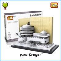 Mr Froger LOZ Guggenheim Museum Mini Block World Famous Architecture Series Model Minifigures Building Blocks Classic