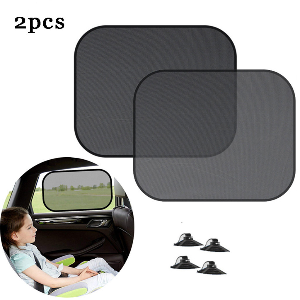 2pcs Car Sun Shade Chic Mesh Car Side Window Shade Cling Sunshades Sun Shade Cover Visor Shiel Auto Curtain Sunshade Car