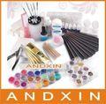 Professional Full Set UV builder  Gel False Tips Nail Art DIY Manicure kit With Picking Box