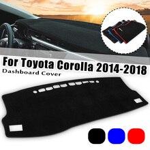 For TOYOTA COROLLA 2014 2015 2016 2017 LHD Dashboard Carpet Cover Dash Mat Sun Shade Dash Board Cover