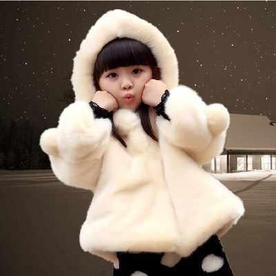 Dễ thương Áo Len Thời Trang Nữ 2018 Mới Mùa Thu và Mùa Đông Trẻ Mới Biết Đi Áo Khoác Mặc Loose Hàn Quốc Dày Len Quần Áo Trẻ Em Áo Khoác